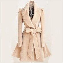 Especially Autumn Winter Blend Coat Women 2018 Slim Long Trench Coats Female Swe