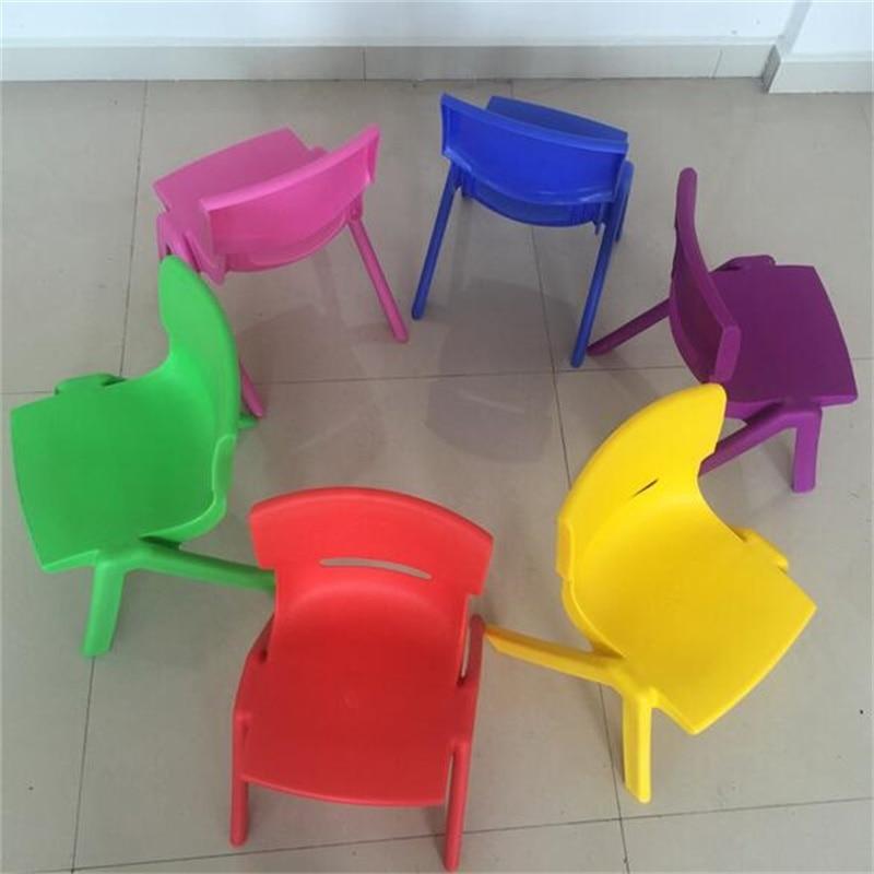 Wholesale 24cm Seat Height Children Kindergarten Chairs Safety Back-rest Chair Thicken Small Stool