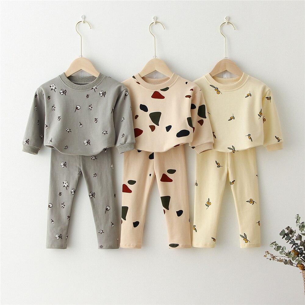 Ropa de los niños conjunto de chándal Tops + Pantalones de primavera niño Niños Niñas Ropa chándal para niño pijamas de bebé niños ropa