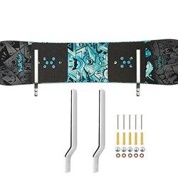 Стеллаж для хранения сноуборда, крепкий настенный стеллаж для хранения-подходит для большинства сноубордов (не толще 30 мм)-без доски