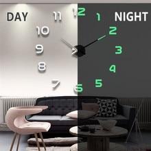 2020 Nieuwe Wandklokken 3D Diy Klok Acryl Spiegel Stickers Home Decoratie Woonkamer Quartz Naald Zelfklevende Opknoping Horloge