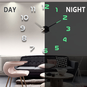 2020 New Wall Clocks 3D DIY Clock Acrylic Mirror Stickers Home Decoration Living Room Quartz Needle Self Adhesive Hanging Watch