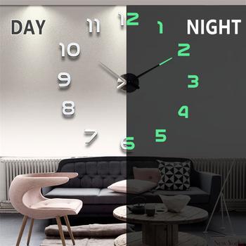 2020 nowe zegary ścienne 3D zegarek DIY lustro akrylowe naklejki Home Decoration salon igła kwarcowa samoprzylepny wiszący zegarek tanie i dobre opinie Krótkie ANT0220 circular 120cm Pojedyncze twarzy 1200mm 400g Mechaniczne 9mm blachy Other MUTE Wielu częściowy zestaw