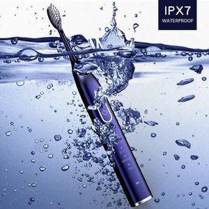 Image 4 - Brosse à dents électrique ultrasonique Rechargeable par USB, 5 têtes de brosse, 5 Modes, 2 intensités vibrantes, rappel 30S, 2min, minuterie étanche