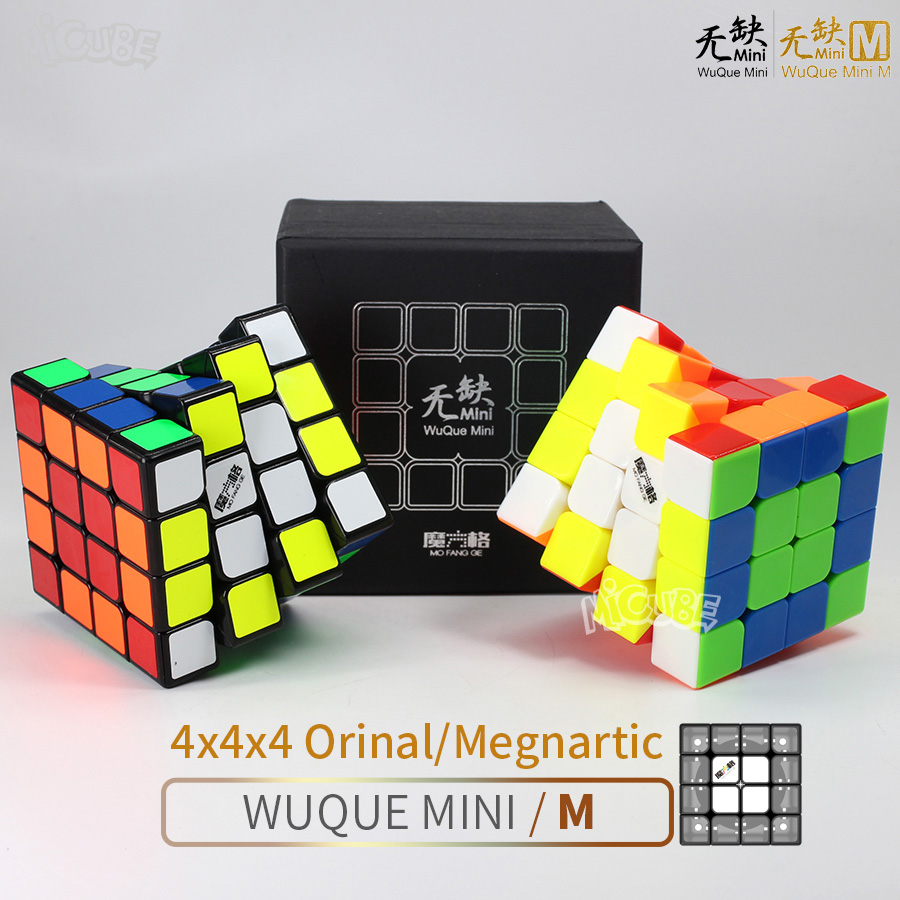 Mofangge 4x4x4 Magnetic Cube 4x4 Wuque Mini M & Original Speed Cube Puzzle Game Qiyi 4*4 For Professional Stickerless Wuque M