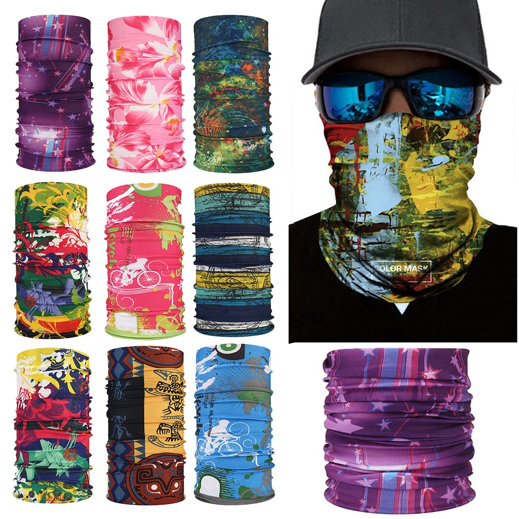 3D Balaclava Scarf Neck Warmer Neck Gaiter Half Face Mask Head Bandanas Shield Headband Headwear Men Women Dropshipping Z0815