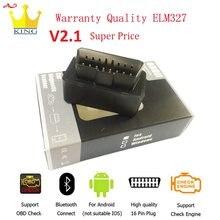 2020 super mini elm 327 obd scanner bluetooth elm327 v2.1 obd2 ferramenta de varredura do carro elm-327 leitor de código ferramenta de diagnóstico do carro navio livre