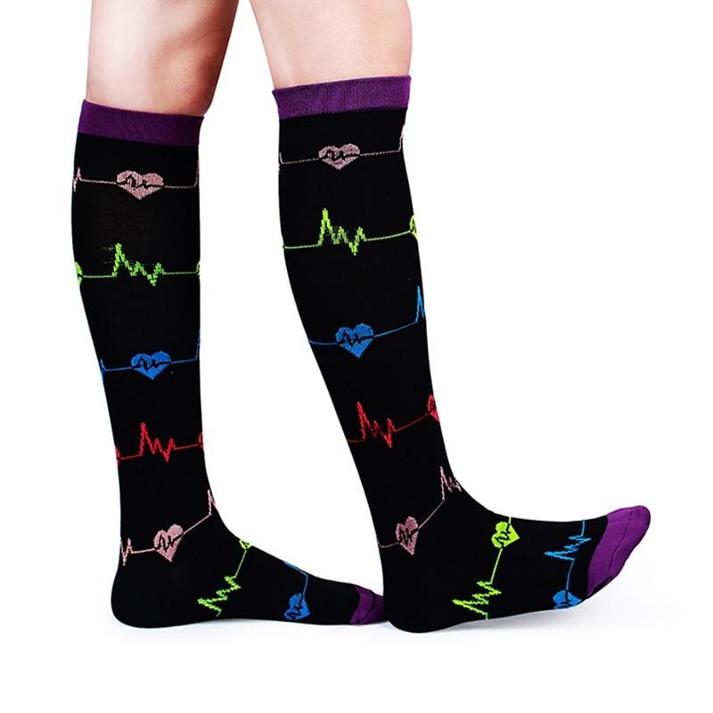 7pcs/set Compression Socks Kit Knee High/Long Polyester Nylon Sports Hosiery Footwear Accessories