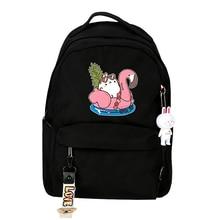 Molang Cartoon Backpack Comics Anime Printed School Bags Rucksack Book Shoulder Crossbody Laptop Knapsack цена в Москве и Питере