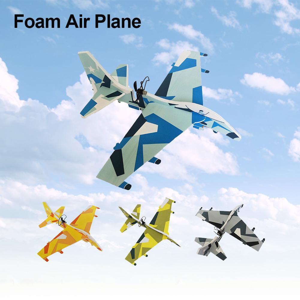 Hand Throw Flying Glider Planes Foam Fighter Aircraft Model Led Flashing Airplane Toy Children Outdoor Game Toy Birthday Gifts image