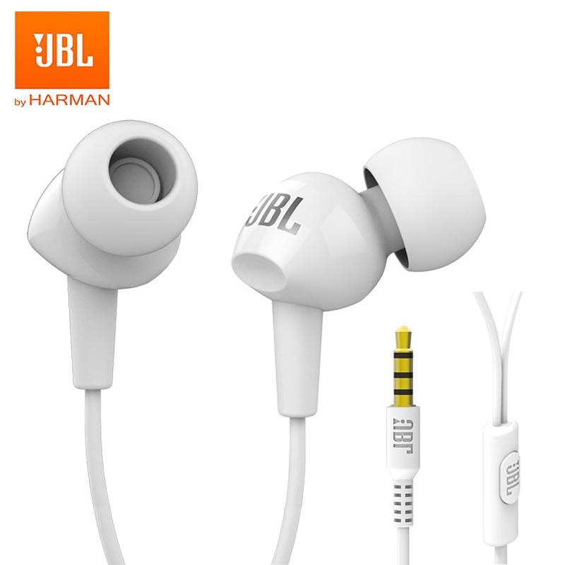 JBL C100Si 3,5 мм Проводные стереонаушники для музыки глубокий бас HIFI Спортивная гарнитура наушники для бега громкой связи с микрофоном