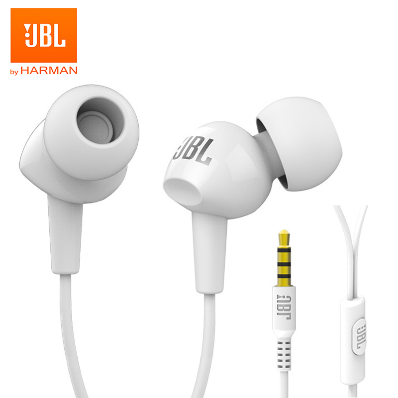 JBL C100Si 3.5mm Wired Stereo Music Earphones Deep Bass HIFI Sports Headset Running Earbuds Hands-free Call with Microphone image