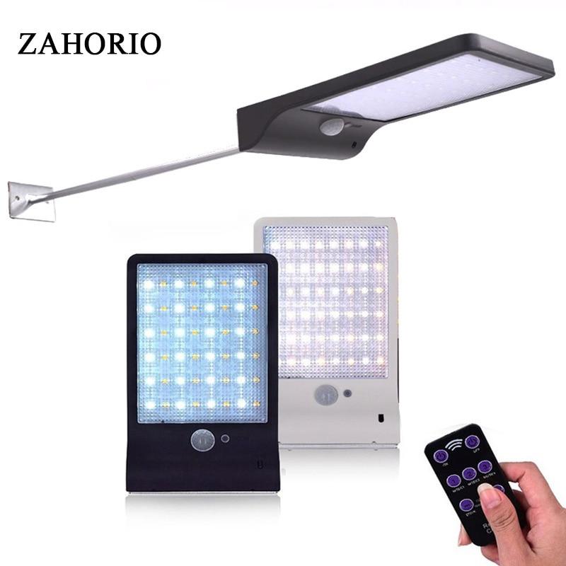 Newest 450LM 48 LED Solar Power Street Light PIR Motion Sensor Lamps Garden Security Lamp Outdoor Street Waterproof Wall Lights