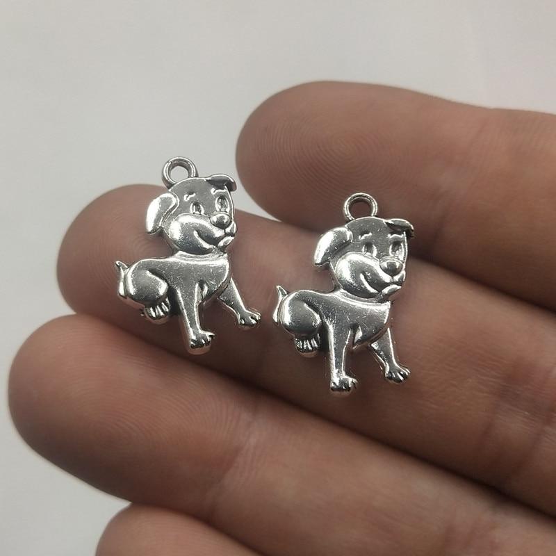 Dad Charm//Pendant Tibetan Antique Silver 18mm  10 Charms Accessory DIY Jewellery