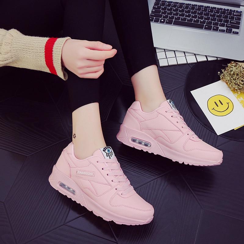 Breathable Mesh Women Flats Shoes Black Pink Wimen Sneakers Lightweight Ladies Tenis Trainers Damping Woman Scarpe Donna Basket