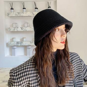Wełna zimowy kapelusz typu bucket Panama kobiety mężczyźni Bob czapka w stylu hip-hop Gorros Solid Color Unisex czapki bawełniane człowiek wiadro wędkarskie czapka z płaskim daszkiem tanie i dobre opinie AIMAISEN COTTON Z wełny Dla dorosłych Mieszkanie Wiadro kapelusze Stałe Na co dzień