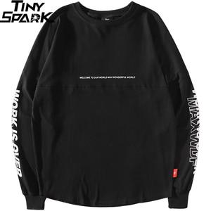 Image 2 - 2019 Harajuku Freedom Sakura Sweatshirt Pullover Hip Hop Streetwear Mens Hoodie Sweatshirts Oversized Japanese Style Long Thin