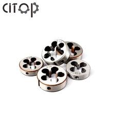 Citop 1pcs G1/2 G1/4 G1/8 G3/4 G3/8 Right Hand Machine Threading  Die Set Screw Thread Tap Drill Machine Plug Die
