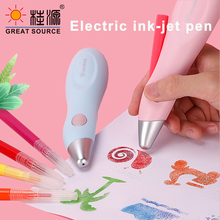 Ink-Jet-Pen Washable-Ink Usb-Charging 36-Cartoon-Mold Electric Childeren 12-Colors 5set