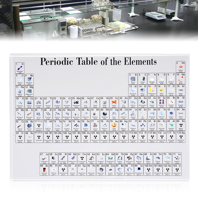 1pc Acrylic Chemical Elements Periodic Table Display Elements Framed Decor For Students Teachers Gift Home Desk Decoration
