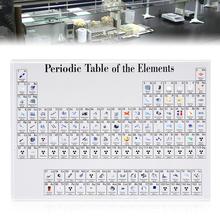 1pc akrylowe elementy chemiczne naklejki okresowe elementy wyświetlacza oprawione wystrój dla studentów nauczyciele prezent dekoracja domu tanie tanio CN (pochodzenie) Z tworzywa sztucznego