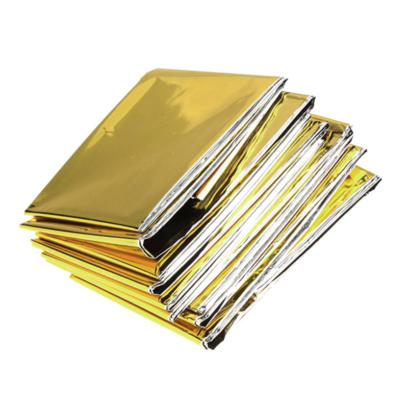 160 x 210cm Emergency Foil Mylar Blanket Rescue Thermal Aids Retain Body Heat for Camping NC99