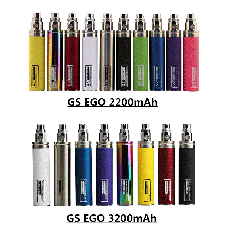 5pcs Original GS Ego II <font><b>2200mAh</b></font> & III 3200mAh <font><b>Battery</b></font> Electronic <font><b>E</b></font> <font><b>Cigarette</b></font> Vape for 510 Thread Evod T3S CE4 Atomizer Pen Kit image