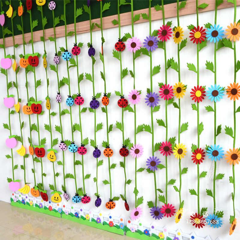 1 metr zabawki kolorowe EVA słonecznik dynia owoce owad przedszkole przedszkole kurtyna dekoracyjna DIY montażu Puzzle zabawki prezenty Hot