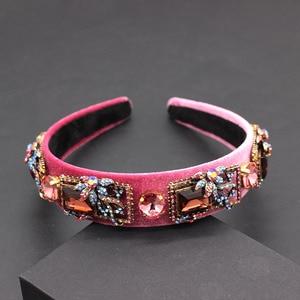Image 4 - Stylish and beautiful rhinestone geometric exaggerated headband Fine fashion rhinestone geometric headband  680