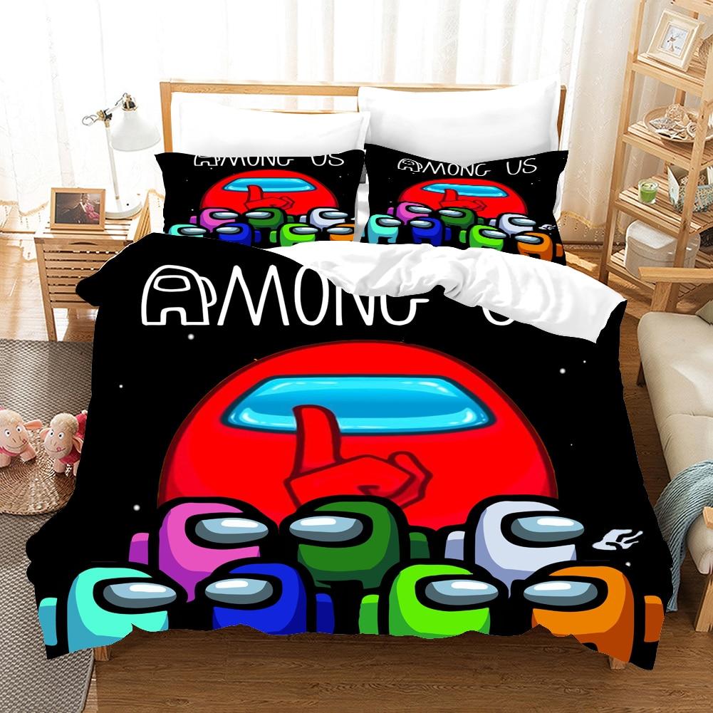 Jogo entre os eua 2/3 pçs conjunto de cama terno criança colcha capa jogo dos desenhos animados 3d impresso cama criança spead quarto capa edredão roupas