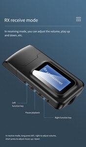 Image 2 - USB Bluetooth 5.0 Audio émetteur récepteur LCD affichage 3.5MM AUX RCA stéréo sans fil adaptateur Dongle pour PC TV voiture casque