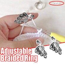 Anello per maglieria regolabile anello per uncinetto accessori per maglieria anello per maglieria 2pc forniture per la casa Necesidades Diarias Del # GM
