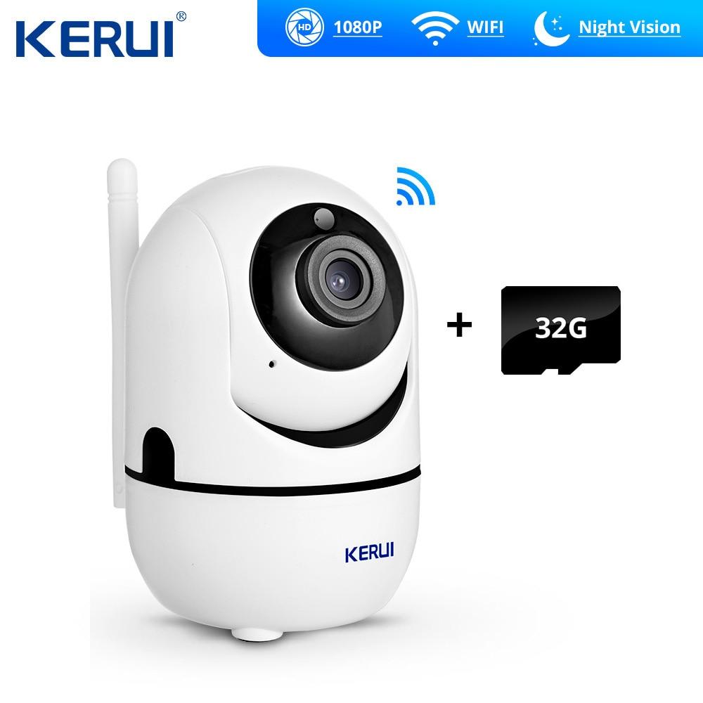 KERUI HD 1080P Mini Indoor Camera App Control Wireless Home Security WiFi IP Camera Surveillance Camera Night Vision CCTV Camera