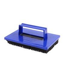 Домашний Прочный портативный ручной инструмент универсальная резиновая практичная кисть для окраски стен мягкая конструкция волос с ручкой зерна