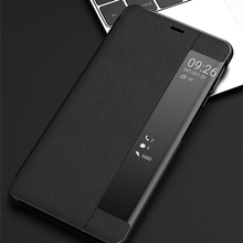 Leather Flip Case Smart View Window Phone Cases For