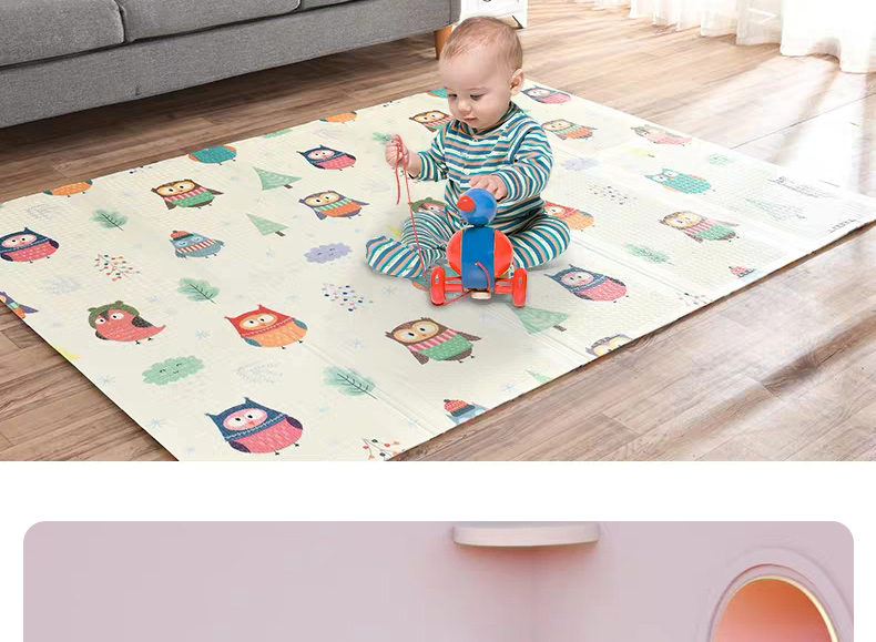 He314ea257a8b4a70b2e00ed58bc9d5aeJ Miamumi Portable Baby Play Mat XPE Foam Double Sided Playmat Home Game Puzzle Blanket Folding Mat for Infants Kids' Carpet Rug