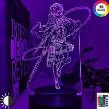 Аниме Рисунок атака на Титанов Леви Акерман светодиодный ночной Светильник акриловый 3d светильник детские, для малышей светодиодный свети...