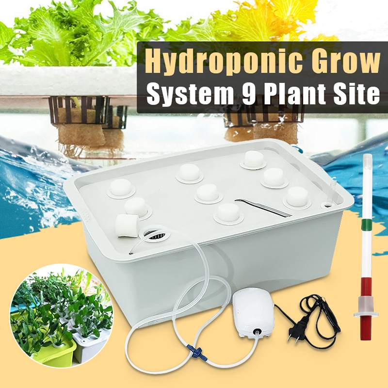 9 Holes 220V Plant Site Hydroponic Systems Nursery Pots Soilless Cultivation Plant Seedling Grow Kit