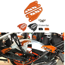 Motorcycle Foot Pegs Heel Cover Aluminum  CNC Machined Anodized for KTM DUKE 390 2017 2018 2019 cnc anodized aluminum black shafts mass production