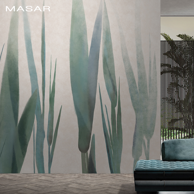 MASAR Modern Minimalist Plant Elements Custom Murals Elegant Watercolor Background Wall Paper Haute Couture Wallpaper Growing