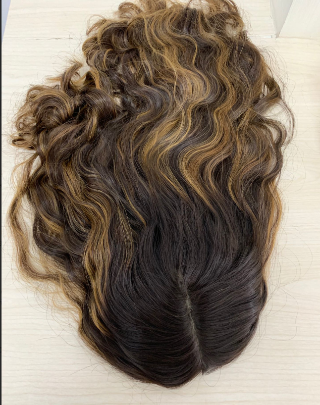 Alishevy Hair-Topper Virgin-Hair Kosher Jewish Fall European Not-Wig Unprocessed