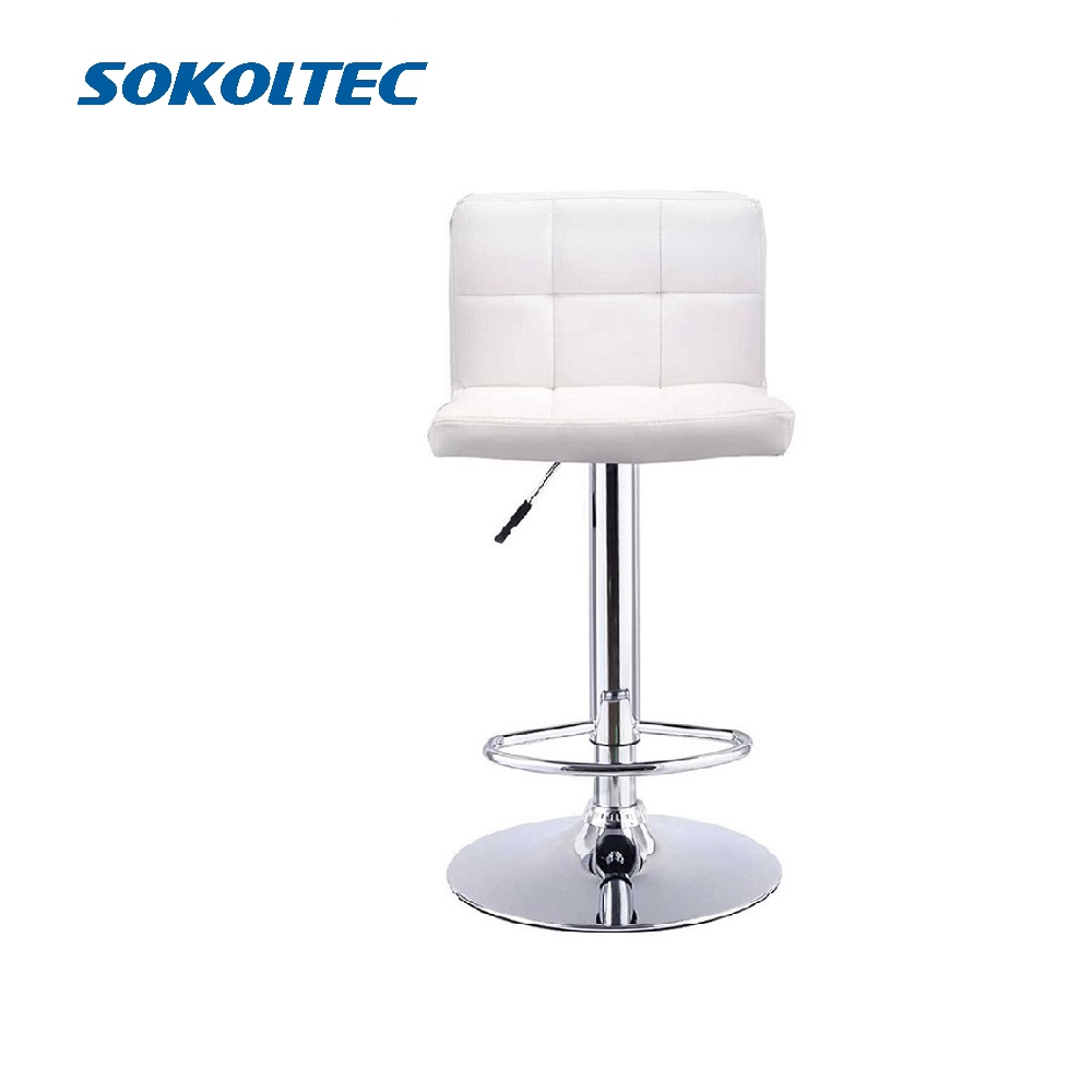 Fast Dispatch Sokoltec Bar Swivel Chair Counter Stool Height Adjustable Kitchen Chair High Chair Chair Contemporary PU Leather