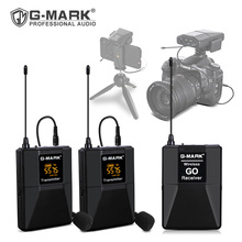 Lavalier ميكروفون G MARK اللاسلكية الذهاب في الأذن رصد مع 30 قنوات ل ASMR DSLR كاميرا مقابلة Youtuber الهاتف سجل Vlog