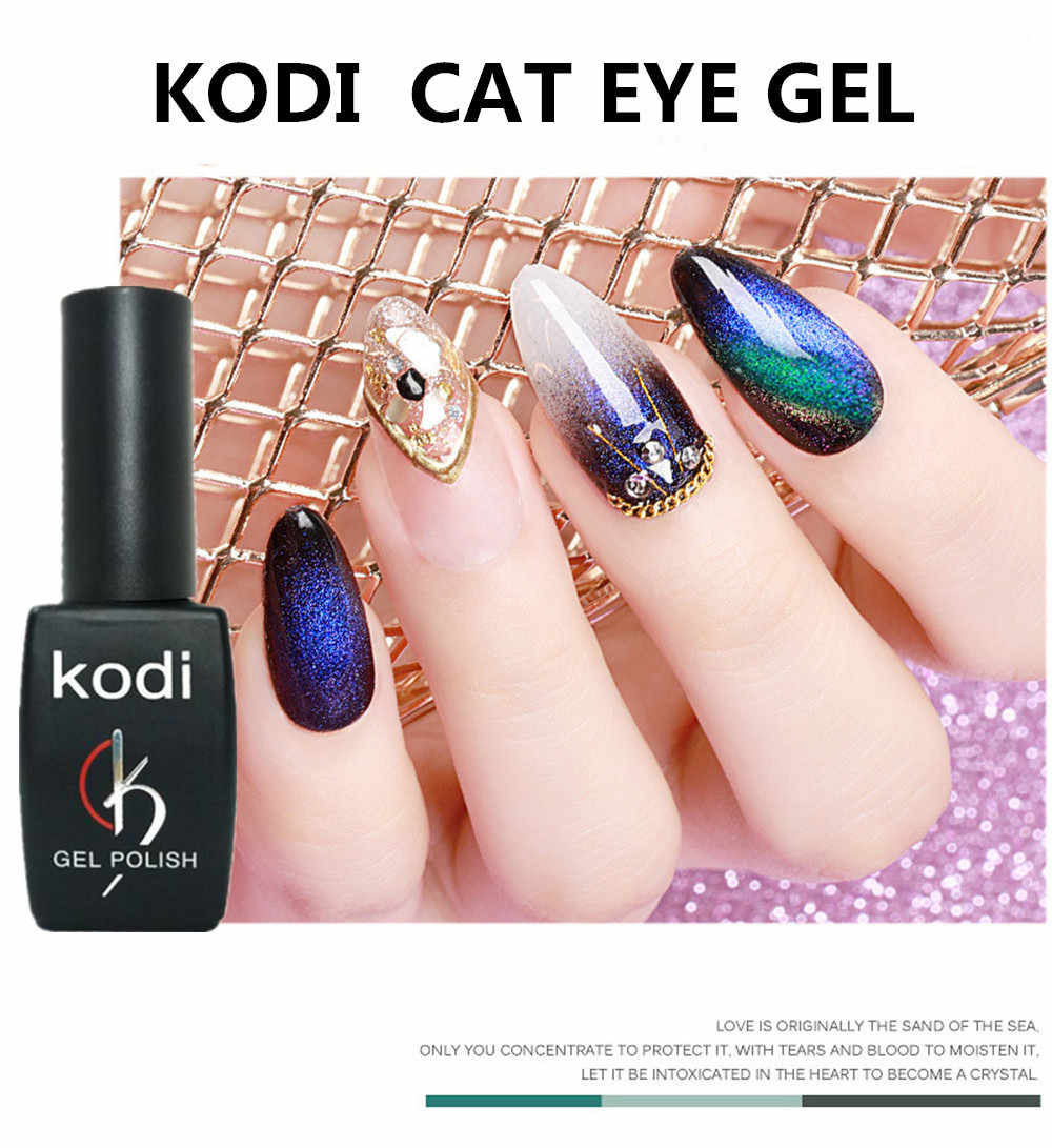 KODI เจลแมวตาเล็บเจล Chameleon แม่เหล็กเจลทาเล็บยาวนาน Shining เลเซอร์ 8ml UV LED เจลเคลือบเงา