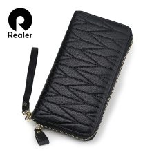 REALER women wallet genuine leather wallet