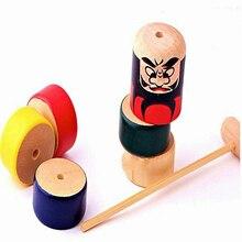 Newly 1 Set Immortal Daruma Halloween Funny Wooden Magic Toy Automatic Assemble Toys BN99