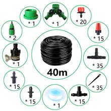 Get more info on the 40m Drip Irrigation Kit,Patio Plant Watering Kit Garden Agriculture Greenhouse Mist Cooling Irrigation System Automatic Micro Fl
