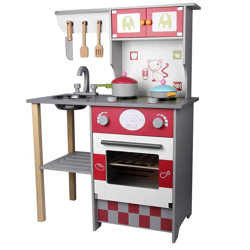 Детские деревянные кухонные игрушки, наборы посуды, косплей, ролевые игры, детский Забавный кукольный домик, игрушка для кухни, прекрасный п