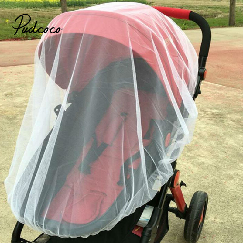 Pudcoco 2020 Brand New Newborn Toddler Infant Baby Stroller Crip Netting Pushchair Mosquito Insect Net Safe Mesh Buggy White