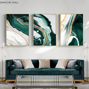 Minimalist Abstract Wall Poster Modern Style Canvas Print Green Texture Painting Contemporary Art Room Decoration Picture(China)